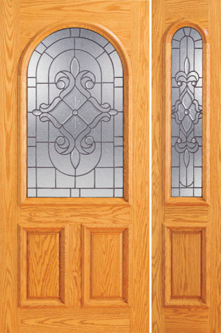 Prehung mahogany radius li entry one sidelight door Prehung exterior door with sidelights