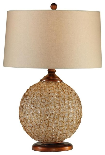 ice gold acrylic ball table lamp transitional table. Black Bedroom Furniture Sets. Home Design Ideas