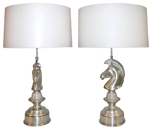 Pair of Art Deco Horse Head Table Lamps contemporary table lamps