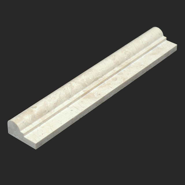 Crema Bella Polished Marble 2x12 Ogee-1 Chair-Rail - Modern - Tile - other metro - by All Marble ...
