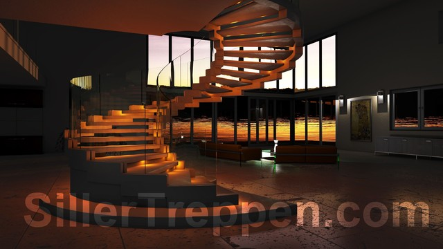 Cobra commercial staircase modern-staircase