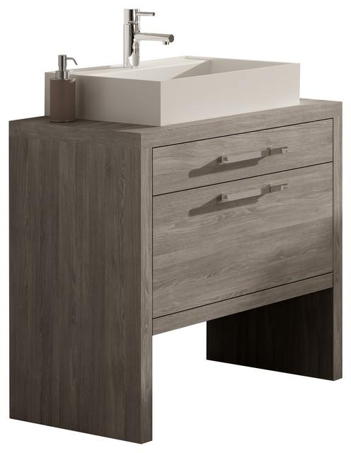"Montreal Oak Bathroom Vanity, 32"" - Contemporary - Bathroom Vanities And Sink Consoles - by ..."
