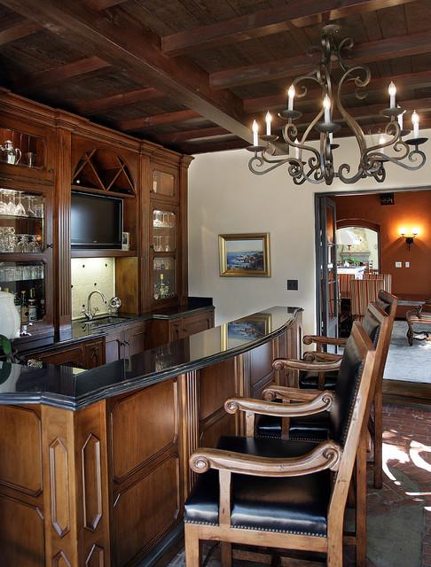Shea Bar rustic-family-room