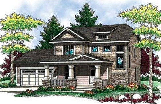 House Plan 70-907 traditional-exterior-elevation