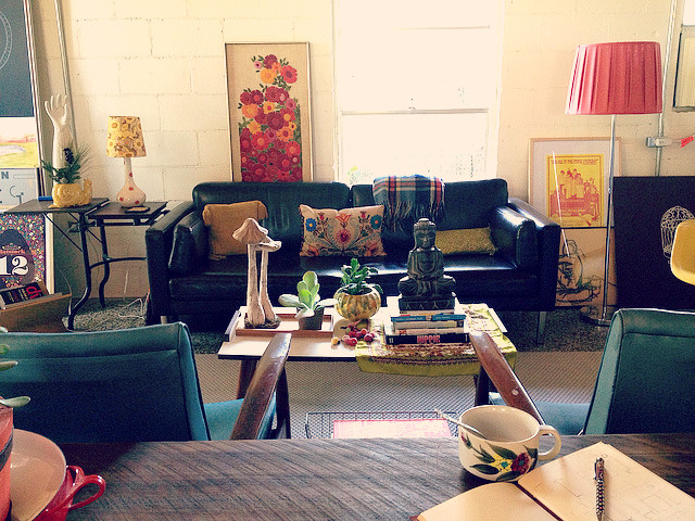 Bohemian home interior styling for Eclectic bohemian living room
