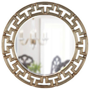 "Golden ""Greek Key"" Mirror traditional-wall-mirrors"
