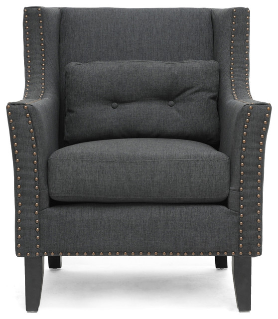 Albany Dark Gray Linen Modern Lounge Chair contemporary-armchairs-and-accent-chairs