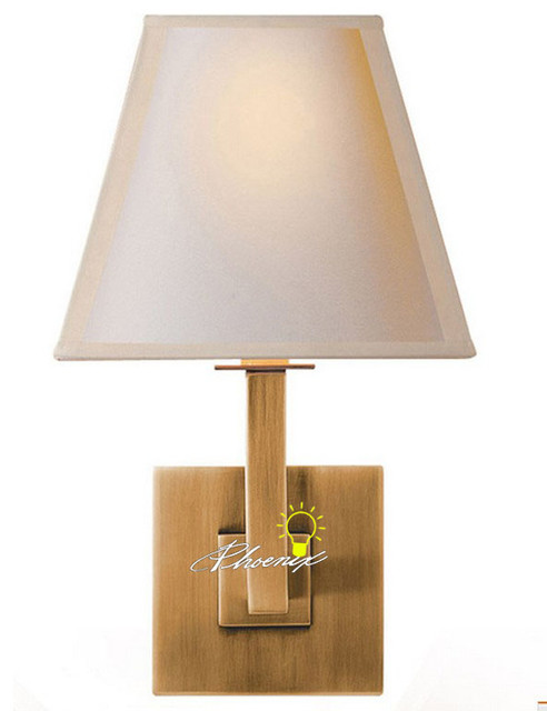 Modern Double Layers of Fabric Copper Wall Sconce - Contemporary - Wall Sconces - new york - by ...