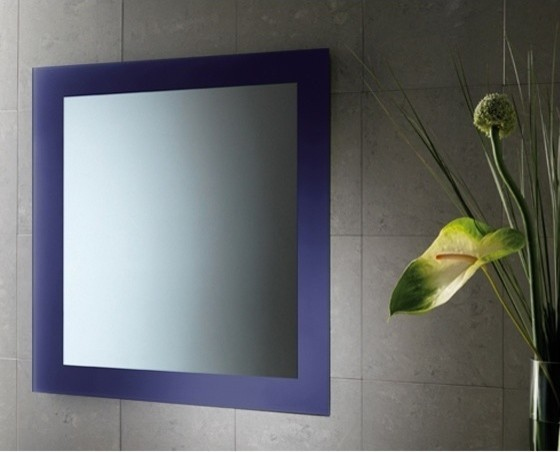 Yosemite Home Decor Vanity Lighting Family 4 Light Chrome: Blue Mirror With Lacquered Frame