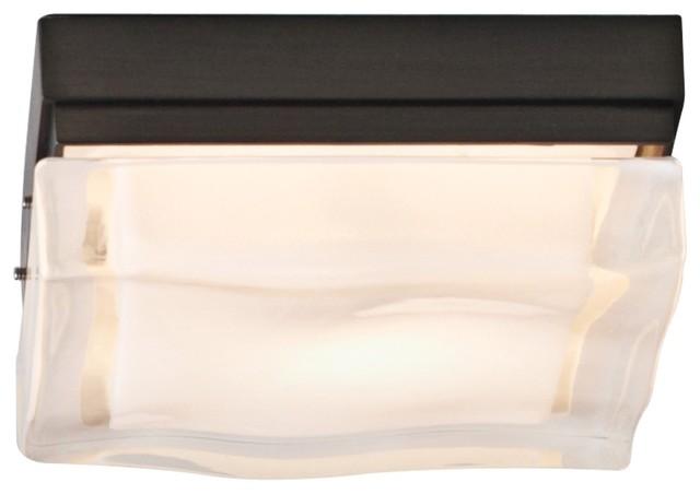 "Tech Lighting Fluid 5 1/4"" Square Bronze LED Ceiling Light contemporary-ceiling-lighting"