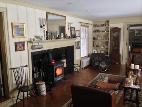fireplace bay window living room dilemma