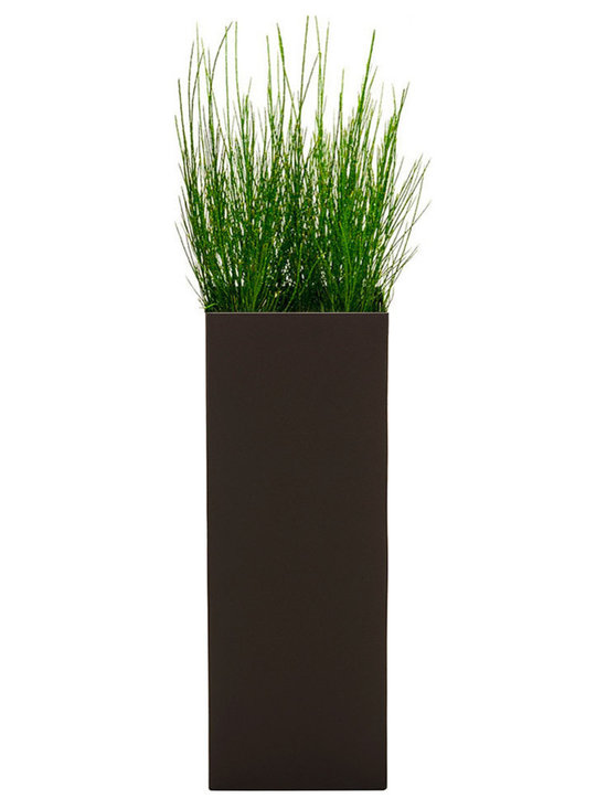 Modern Planter - Modern Tower Planter - Bronze, Large - Add height and dimension to any space with our Modern Tower plant containers. Available with or without drain holes.