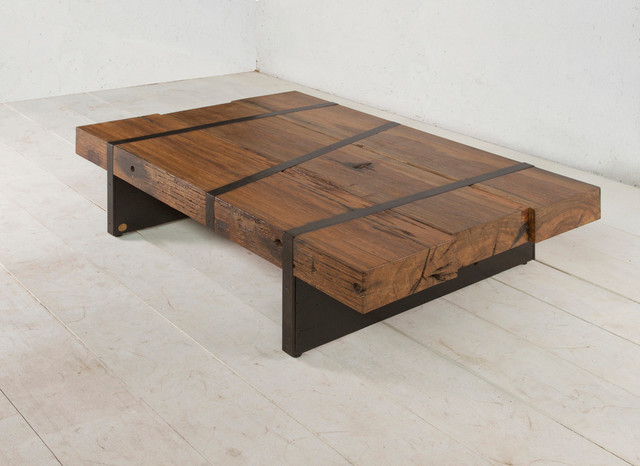 Digby beam table contemporary coffee tables new york for Wood beam coffee table