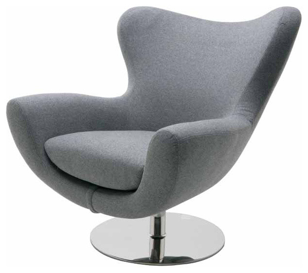Conner Lounge Chair Light Gray Wool Modern Armchairs And Accent Chairs