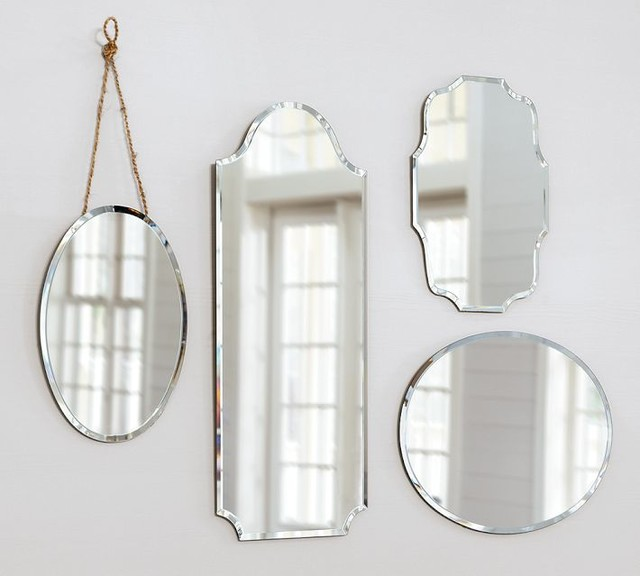 Eleanor Frameless Mirrors traditional mirrors
