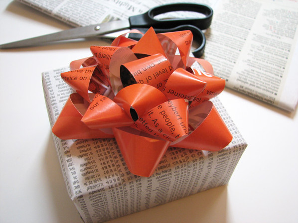 How About Orange Gift Bow Tutorial eclectic 