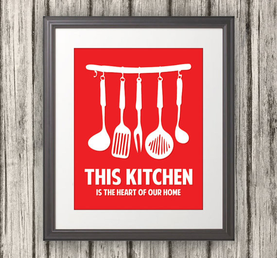 'This Kitchen is the Heart of Our Home' Kitchen Print by Benton Park Prints contemporary-prints-and-posters