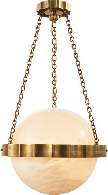 Medium Fluted Band Globe Ceiling Pendant contemporary pendant lighting