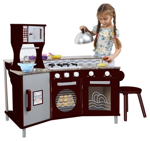 MY LITTLE CHEF DELUXE FAUX-GRANITE PLAY KITCHEN contemporary