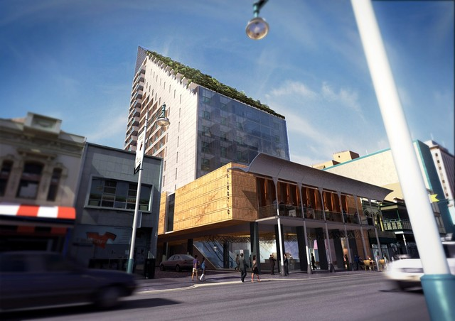 The majestic vertical garden hotel contemporary for Coffee shop exterior design ideas
