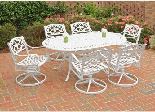 Home Styles Biscayne 72 in. Swivel Patio Dining Set - Seats 6 ...