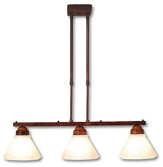Rustic cedarwood triple island light light eclectic for Houzz rustic lighting