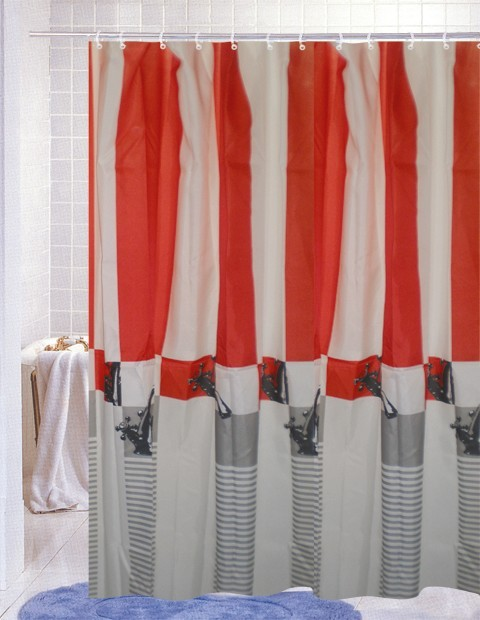 modern design stripe bath shower curtain contemporary shower curtains