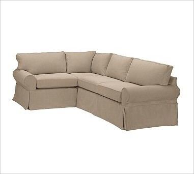 Pb basic right 3 piece small sectional slipcover twill for 3 piece sectional sofa slipcovers