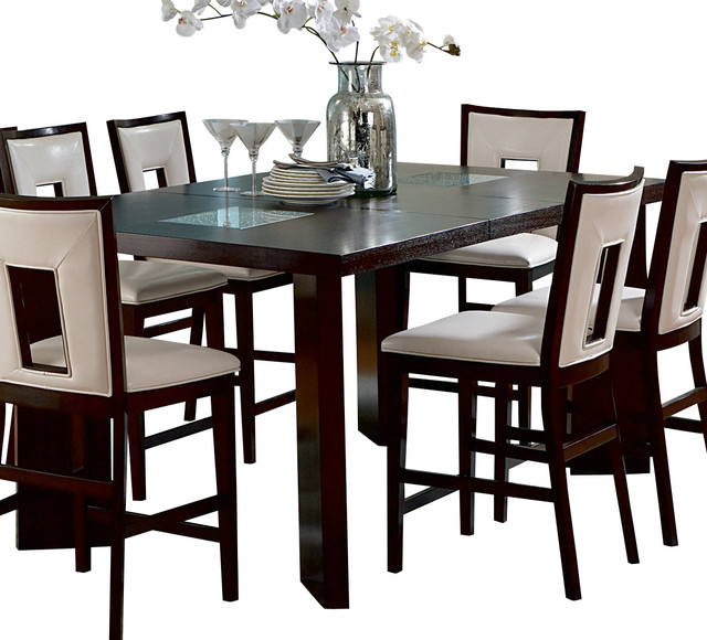 silver delano counter height table with leaf traditional dining tables