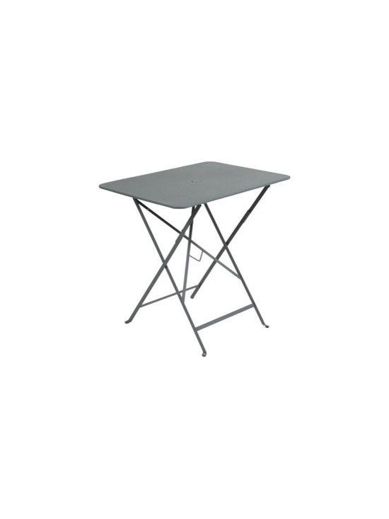 "Fermob Bistro Table - 0234 Fermob Storm Grey Bistro Table 30x22"""