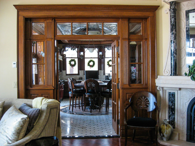 Victorian traditional to victorian modern traditional for Modern victorian living room designs