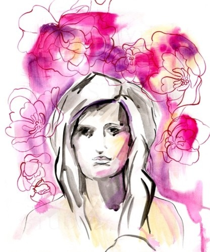 """""""Portrait Illustration Original Painting"""" Artwork contemporary-drawings-and-illustrations"""