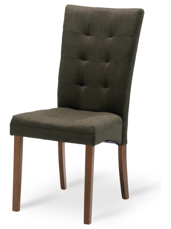 Bryght - Anne Cafe Fabric Upholstered Cocoa Dining Chair - Comfort and elegance come together in this classic tufted dining chair. The Anne dining chair is sure to add character to your dining room decor.