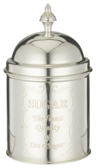 Brissi Sugar Caddy, Silver Plated traditional-food-containers-and-storage