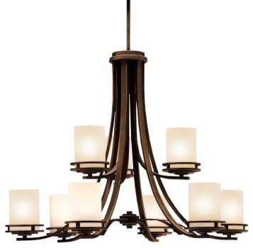 Kichler Hendrik Chandelier - 33.5W in. Olde Bronze modern-chandeliers