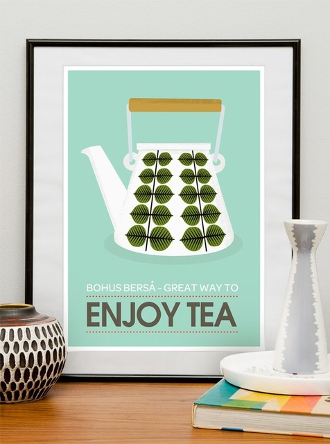 Stig Lindberg Bersa Great Way to Enjoy Tea by ReStyle modern-prints-and-posters