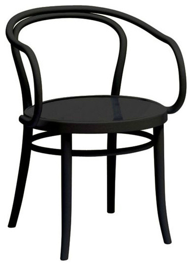 era round armchair traditional dining chairs by