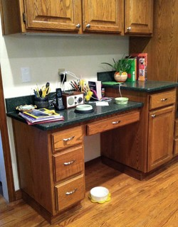 Ideas for a kitchen desk area for Kitchen area ideas