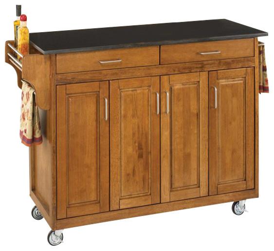 Home Styles Create A Cart 49 Inch Black Granite Top