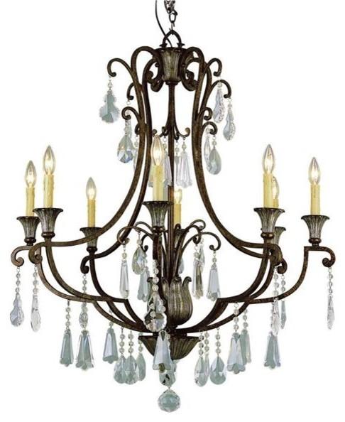 Antique Bronze 8 Light Candelabra modern-chandeliers