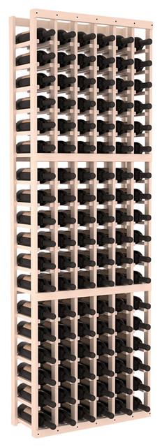 6 Column Standard Wine Cellar Kit in Pine, White Wash + Satin Finish contemporary-wine-racks