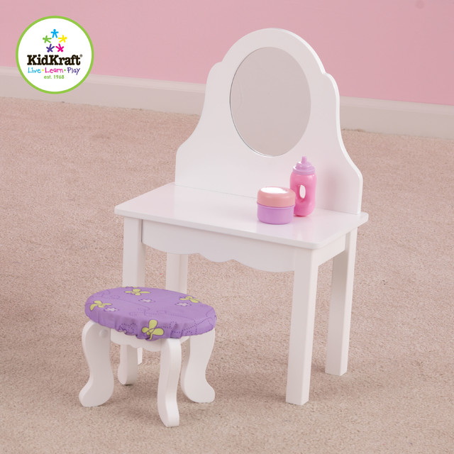 Makeup Vanity For Kids KidKraft Deluxe Wood Makeup Vanity Table