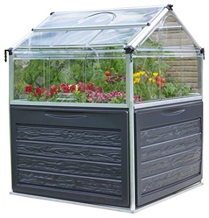 Plant Inn Raised Garden Bed Greenhouse contemporary-greenhouses