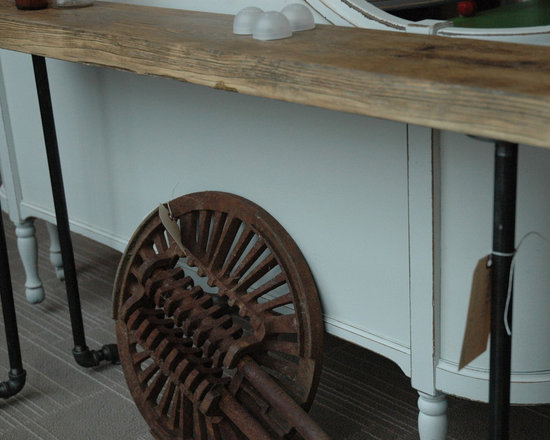 Reclaimed wood console Table - Brent Hollenberg