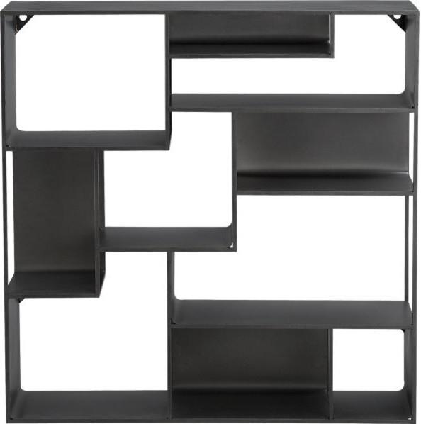 industrial metal wall mounted bookcase modern display. Black Bedroom Furniture Sets. Home Design Ideas