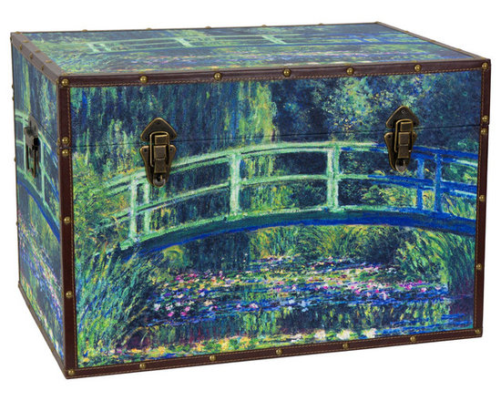 Art Print Monet's Garden Storage Trunk -