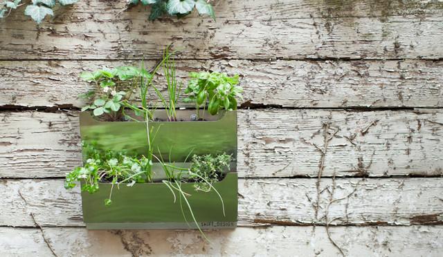 Cedar Herb Garden modern-outdoor-planters