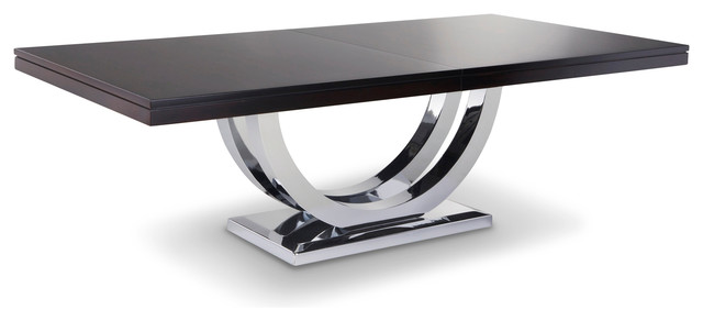 metro chrome base dining table modern dining tables other metro