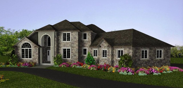 3D rendering of New Home traditional-rendering