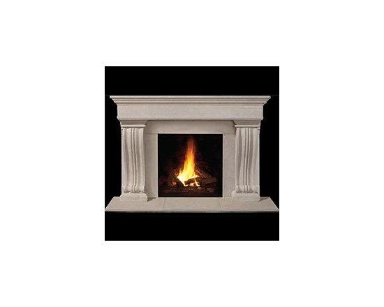 Nottingham Stone Fireplace Mantel -
